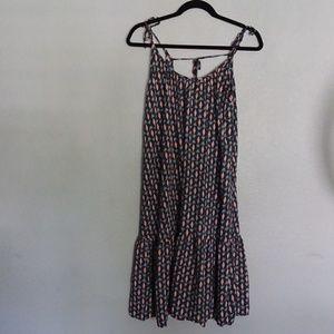 H&M black pattern dress size 4